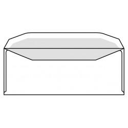 Envelop C5/6 114x229mm venster rechts gegomd wit 500st