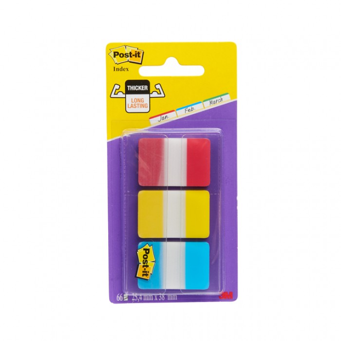 Indextabs 3M Post-it 686 25.4x38.1mm strong assorti