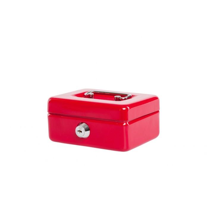 Geldkist MAUL met muntgleuf 125x95x60mm rood