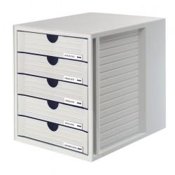 Ladenbox Han 1450 5 laden gesloten grijs