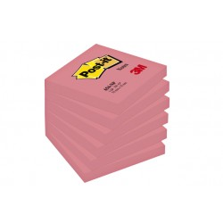 Memoblok 3M Post-it 654 76x76mm neon roze