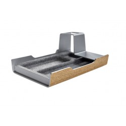 Bureau organizer Sigel Smartstyle 240x150x36mm zilvergrijs/hout