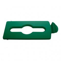 Afvaldeksel Slim Jim Recyclestation groen gemengd