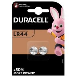 Batterij Duracell knoopcel 2xLR44 alkaline Ø11,6mm 2 stuks