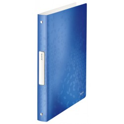 Ringband Leitz WOW A4 4-rings O-mech 25mm PP blauw