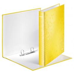 Ringband Leitz WOW A4 2-rings D-mech 25mm karton geel