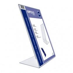 Kaarthouder OPUS 2 L-standaard A3 staand acryl