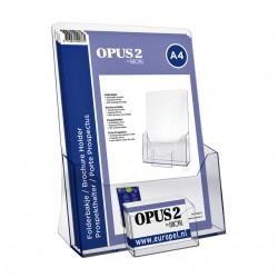 Folderhouder OPUS 2 A4 met visitekaarthouder transparant