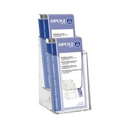 Folderhouder OPUS 2 2vaks 1/3 A4 transparant