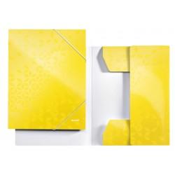 Elastomap Leitz WOW 3-kleps A4 karton geel