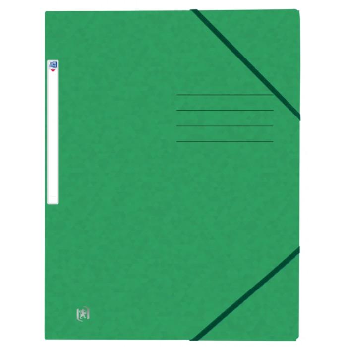 Elastomap Oxford Top File+ A4 3 kleppen 390gr groen