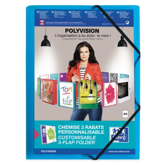 Elastomap Oxford Polyvision A4 inclusief insteektas blauw