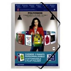 Elastomap Oxford Polyvision A4 transparant