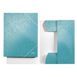 Elastomap Leitz WOW 3-kleps A4 karton ijsblauw