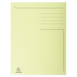 Dossiermap Exacompta Forever 280gr 3kleppen geel