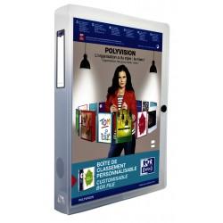Verzamelbox Oxford Polyvision 40mm met insteektas transparant