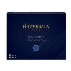Inktpatroon Waterman nr23 lang blauw/zwart