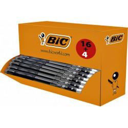 Gelschrijver Bic Gelocity 0,3mm zwart doos à 16 stuks + 4 gratis