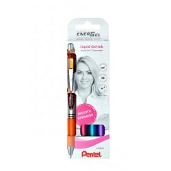 Gelschrijver Pentel Energel BL77 0.4mm blister à 4 stuks assorti