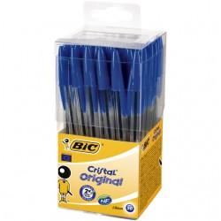 Balpen Bic Cristal Tubo 50 blauw medium