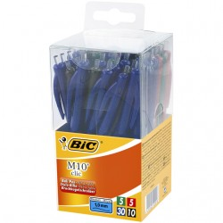 Balpen Bic M10 Tubo 50 assorti medium