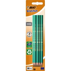 Potlood Bic Conte Ecolution 655 HB blister à 10 stuks