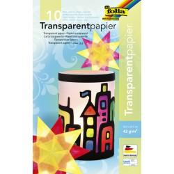 Transparant papier Folia 18,5x29,7cm 42gr ass
