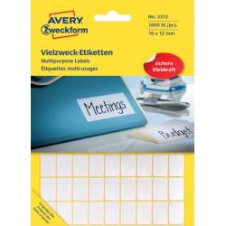 Etiket Avery Zweckform 3312 18x12mm wit 1800stuks