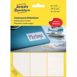 Etiket Avery Zweckform 3329 76x39mm wit 192stuks