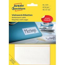Etiket Avery Zweckform 3331 98x51mm wit 84stuks