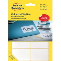 Etiket Avery Zweckform 3337 54x35mm wit 224stuks