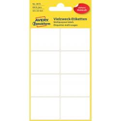 Etiket Avery Zweckform 3075 32x23mm wit 60stuks