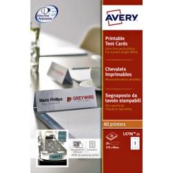 Tafelnaambord Avery L4796-20 210x60mm wit 20stuks