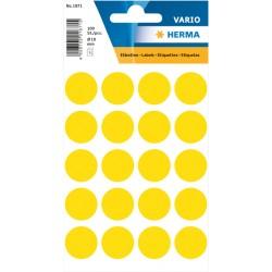Etiket Herma 1871 rond 19mm geel 100stuks