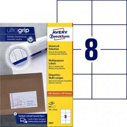 Etiket Avery Zweckform 3427 105x74mm wit 800stuks