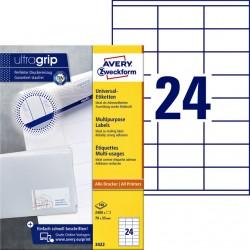 Etiket Avery Zweckform 3422 70x35mm wit 2400stuks