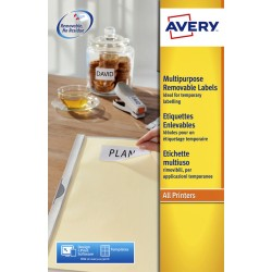 Etiket Avery L4737REV-25 63.5x29.6mm afneembaar wit 675stuks