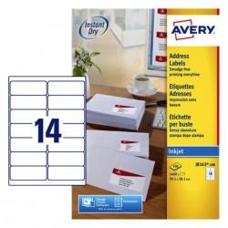Etiket Avery J8163-100 99.1x38.1mm wit 1400stuks