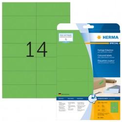 Etiket Herma 5061 105x42.3mm verwijderbaar groen 280stuks