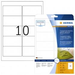 Etiket Herma 8018 96x50.8mm 250st transparant