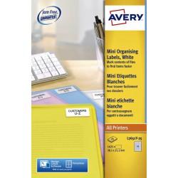 Etiket Avery L7651Y-25 38.1x21.2mm neon geel 1625stuks