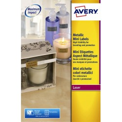 Etiket Avery L7690-25 38.1x21.2mm zilver 1625stuks