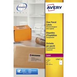 Etiket Avery L7567-25 210x297mm transparant 25stuks