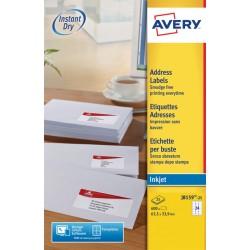 Etiket Avery J8159-25 63.5x33.9mm wit 600stuks