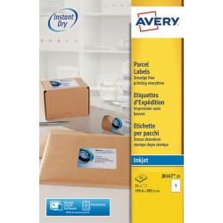 Etiket Avery J8167-25 199.6x289.1mm wit 25stuks