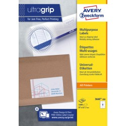 Etiket Avery Zweckform 3660 97x67.7mm wit 1600stuks