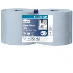 Poetsrol Tork W1 130052 2laags 23,5cmx255m 2rollen blauw