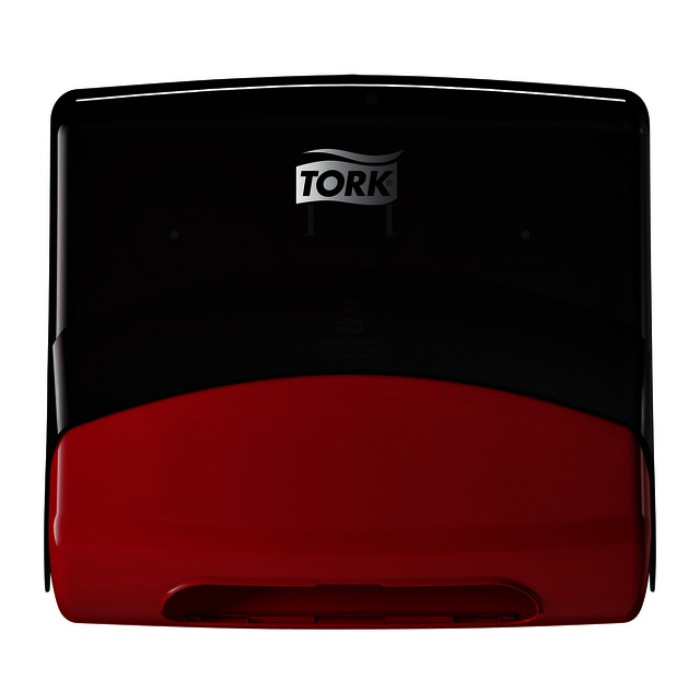 Dispenser Tork W4 654008 nonwoven zwart/rood
