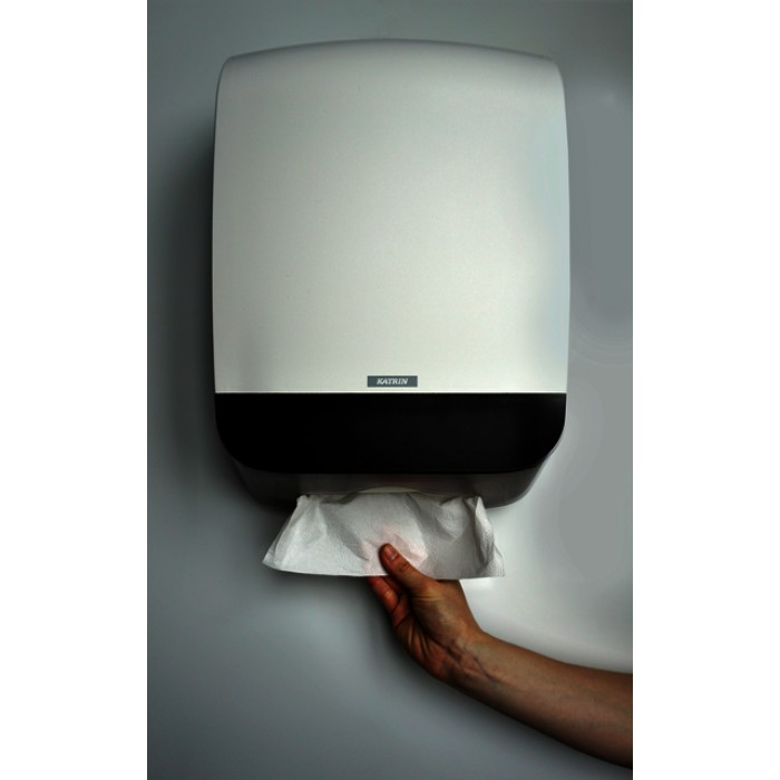Dispenser Katrin 90168 vouwhanddoeken Maxi wit