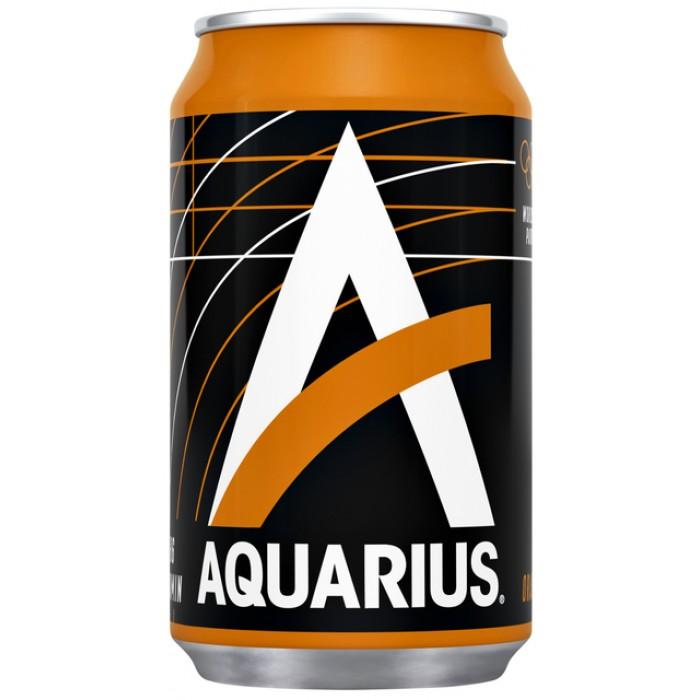 Frisdrank Aquarius Orange blikje 0.33l